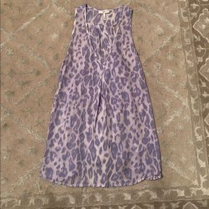 Joie purple animal print silk tank - size XS